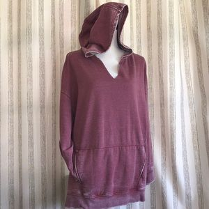 """Free People Size XS """"GET IT"""" over sized hoodie"""
